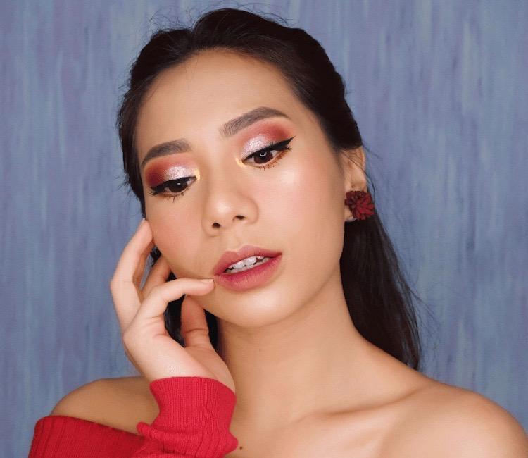 tampilan makeup non glitter untuk acara tahun baru anda